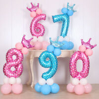 32'' Foil Number Balloons Giant Digit Birthday Party Decor Baby Shower Gifts New