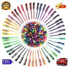 100 Pack Gel Pens Metallic Neon Glitter Pastel Individual Colors Adult Coloring