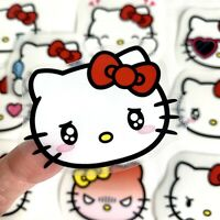 RARE! Large Hello Kitty Waterproof Stickers Kawaii For Laptop Hydro Flask