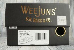 🔥NEW! G.H. BASS & CO. Leather Weejun Jaclyn Tassel Loafer Women Tan🔥