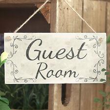Guest Room - Handmade Vintage Style Wooden Door Sign / Plaque Bedroom