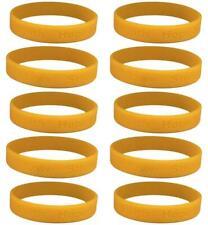 10 Gold Childhood Cancer Awareness Bracelets - High Quality Silicone Bracelets