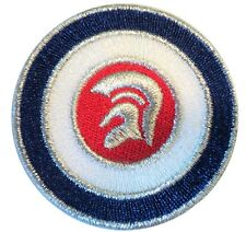 Trojan Target Roundel MOD Scooterist Iron/ Sew On Embroidered Cloth MODS Patch