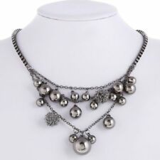 Ball Statement Necklace Antique African Beaded Black