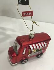 Nwt Glass Blown Shining Food/Drinks Truck Christmas Tree Ornament