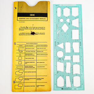 Vintage IBM Charting and Diagramming Template X24-5884-6
