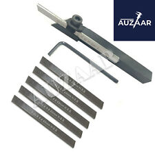 6mm Small Mini Lathe Cut Off Parting Tool Holder With 6 Pcs M2 Hss Blade Of 5mm