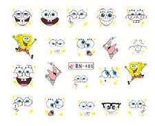 Nail Art Decals Transfers Stickers Cartoon Characters Spongebob (DB485)
