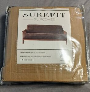 Surefit Soft Suede Futon 1 Piece Slipcover, Relaxed Woven Fit, Polyester, Machin