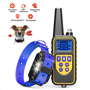 Waterproof Dog Training Electric Collar Rechargeable Remote Control 1 2 3 Dogs