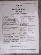 1953 Evinrude Fleetwin 7512 7513 Outboard Motor Parts List MORE IN OUR STORE  L