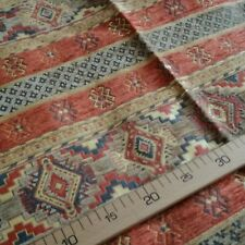 %100 Turkish Anatolian Kilim Design Chenille fabric