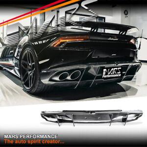 NOVITEC Style Carbon Rear Bumper Bar Diffuser for Lamborghini Huracan LP-610
