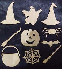 Decoraciones De Halloween, De Madera, Spider, Bat, caldero, Arañas Web * espeluznante *