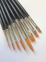 Model Painting Brushes, Warhammer, Army Painter, Airfix, Synthetic Mix, Set of 9