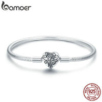 Bmaoer Solid S925 Sterling Silver Bracelet tree of family Clasp women Jewelry