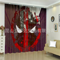 Bedroom Blackout Window Curtain 2 Panel Spiderman Living Room Curtains Drapes Ebay