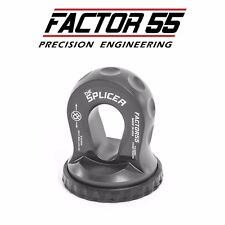 "Factor55 'The Splicer' 3/8-1/2"" Synthetic Rope Splice On Shackle Mount GRAY"