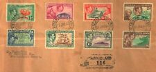 PITCAIRN ISLANDS 1946 Sc#1-8 REGISTERED COVER TO EGYPT FINE
