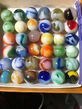 36 Vintage Marbles Lot 1 All In NM CAC Peltier Akro Agate Vitro Christensen