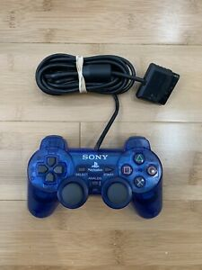 Sony PlayStation 2 PS2 Dualshock Controller Blue SCPH-1200 OEM - Ships Fast