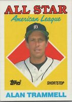 Alan Trammell All Star AL 1988 Topps Baseball Card #389 Detroit Tigers