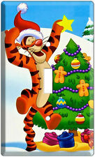 Tigger Winnie The Pooh decorating Christmas tree Light Switch Cover Wall Plate