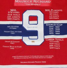 "Maillot / Jersey Maurice ""The Rocket"" Richard autographed 4 000$ nego."