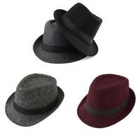 Men Women Short Brim Classic Jazz Cap Cotton Blend Causal British style Hat