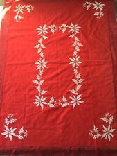 Vintage Christmas Tablecloth 53x70in