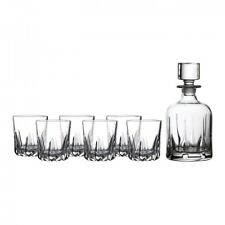ROYAL DOULTON Mode Whiskey Decanter & Tumblers, Set of 6 NEW IN THE BOX