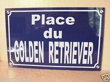 PLAQUE de RUE chien chiot GOLDEN RETRIEVER personnalisation possible sur demande