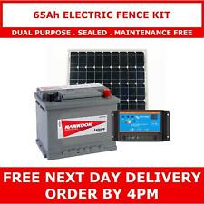 More details for 65ah leisure battery and 30w solar panel package, perfect for electric fences