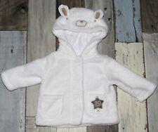 ~ SO BABY - Manteau en fausse fourrure blanche mixte 0 / 1 mois ~