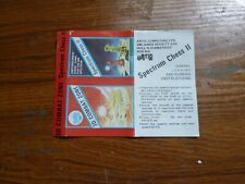 ZX Spectrum Original Cassette Cover :- 3D Combat Zone / Chess II