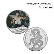 WR Collectibles Kung Fu Bruce Lee Silver Coin Medal The Way Of The Dragon Gifts