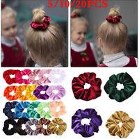 10/20 Lot Women Velvet Hair Scrunchies Elastic Scrunchy Ponytail Hair Tie Ropes