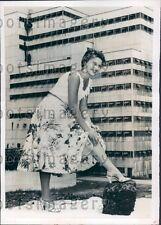 1955 Queen of Pennsylvania Coal Festival Nancy Davis Robena Mine Press Photo