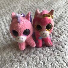2x TY Beanie Boos bag clip unicorn Fantasia