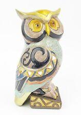 Owl Figurine Statue Multi coloured Gold Mirror highlights  15cm High