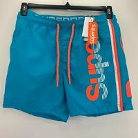 Superdry Mens State Volley Swim Trunks Blue XL