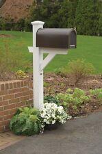 Highwood Hazleton mailbox post in white AD-MLBX1-WHE Mailbox Post NEW
