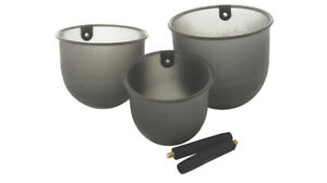 MAVER POLE CUPPING KIT POTS - SET OF 3 - With 2 ADAPTOR SLEEVES - J675