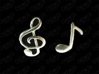 925 Sterling Silver Musical Note Music Stud Earrings Treble Clef Child Women Men