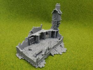 HO scale destroyed house #2 1:87 scale 3D print