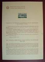 1956  ITALIA  Bollettino Postale N° 26  Risparmio Postale