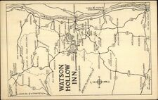 Watson Hollow Inn - Westy Shokan NY Area Map Postcard