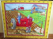 """1 Colorful """"Tractor Mac"""" Cotton QuiltingWallhanging Sewing Fabric Panel"""