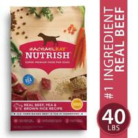 Rachael Ray Nutrish Natural Premium Dry Dog Food, Real Beef, Pea, & Brown Rice R