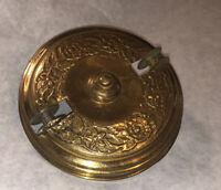 Antique Ornate Brass Hanging Kerosene Oil Lamp Canopy Pulley Retractor Part